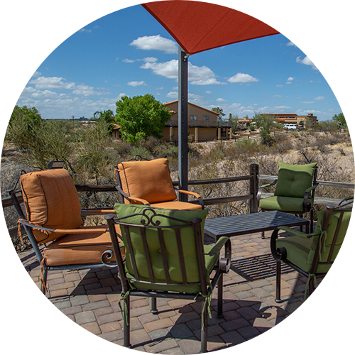 Meadows Ranch outdoor seating