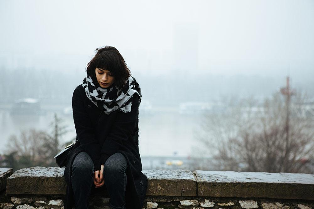 Woman depressed